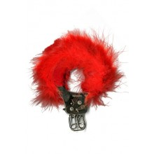 Feather Love Cuffs Red