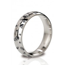The Earl - Round Cock Ring 55 mm Polished And Engraved
