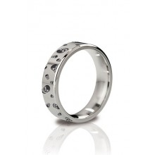 The Duke - Angular Cock Ring 48 mm Polished And Engraved