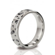 The Duke - Angular Cock Ring 55 mm Polished And Engraved