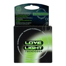 "Condón Fluorescente ""Love Light"" 3 unidades"